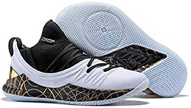 UnderArmour Stephen Curry 5 Low White Gold Basketball Shoes for Men (11 UK) 38aec830bdf3