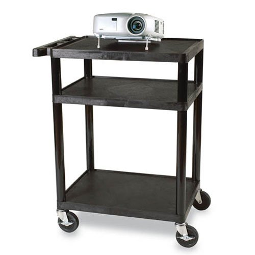 """26 - 42"""" Adjustable Height UL Listed Plastic Duo Utility Cart"""
