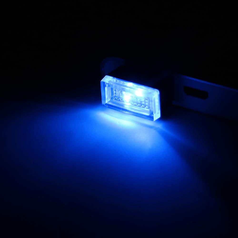 iluminaci/ón decorativa l/ámpara de emergencia Port/átil PC ordenador Decor Light con TOMAS USB rojo itimo Coche atm/ósfera Luces de LED
