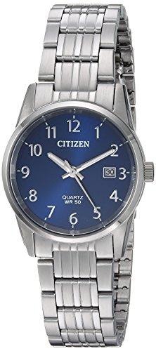 Ladies Quartz (Citizen Women's Quartz Stainless Steel Casual Watch, Color:Silver-Toned (Model: EU6000-57L))