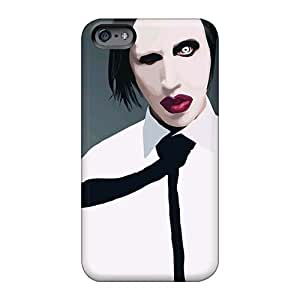 Excellent Cell-phone Hard Covers For Iphone 6plus With Custom Fashion Marilyn Manson Band Image InesWeldon