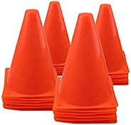 TEUN 7 Inch Plastic Traffic Cones Sport Training Agility Marker Cone for Soccer, Skating, Football, Basketball