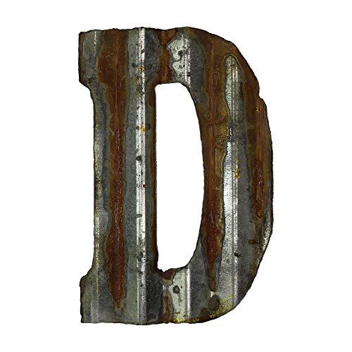 Custom Cut Decor 8'' Rusty Galvanized Corrugated Metal Letter -D