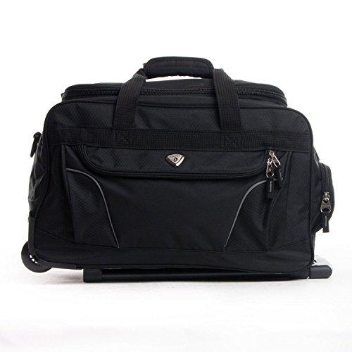 CalPak Champ Black 21-inch Carry On Rolling Upright Duffel Bag