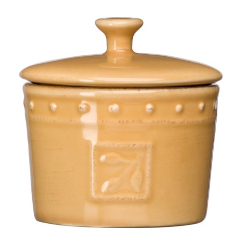 Signature Housewares Sorrento 5-Ounce Stoneware Spice Jar, Gold