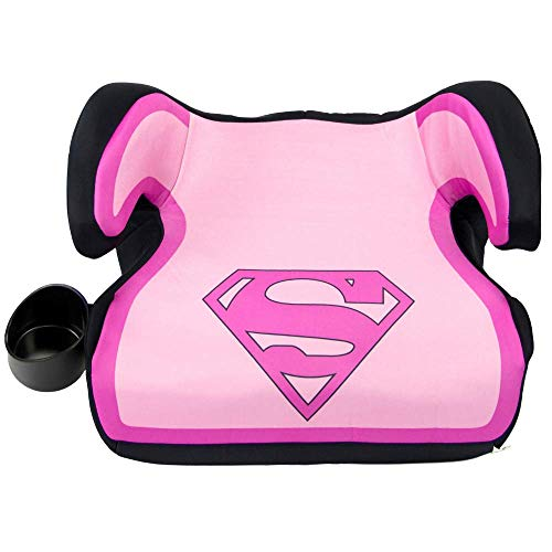 KidsEmbrace Supergirl Booster Car Seat, DC Comics Youth Backless Seat, Pink