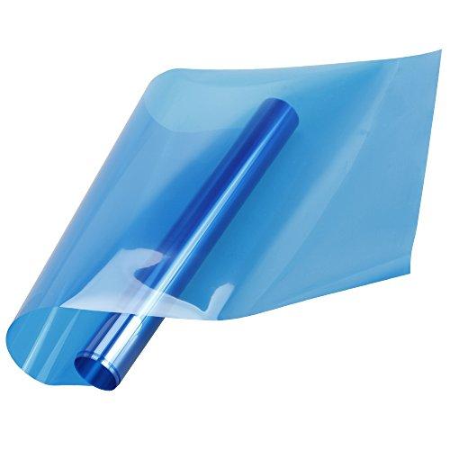 Nice HOHO Colorful Window Solar Film Heat Control UV Proof Transparent Glass Tint Decoration Stickers,Blue(50cmx100cm) free shipping