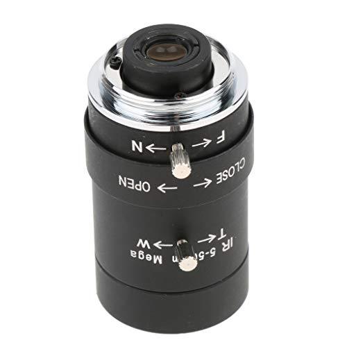 D DOLITY CCTV Camera 5-50mm Varifocal Lens, Manual IRIS, CS Mount Format 1/3 inch Lens (Black) ()