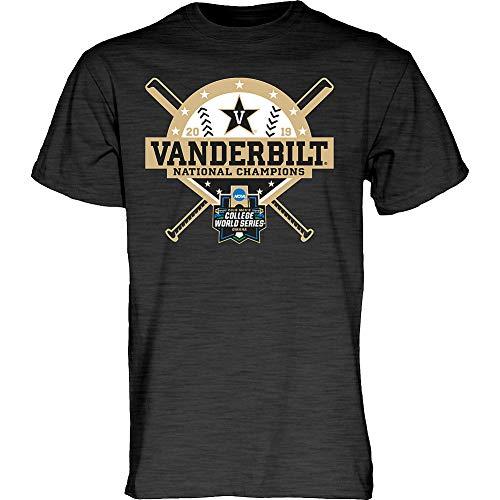 Elite Fan Shop Vanderbilt Commodores Baseball College World Series Champs Tshirt CWS 2019 Charcoal Stars - - Michigan National Champions