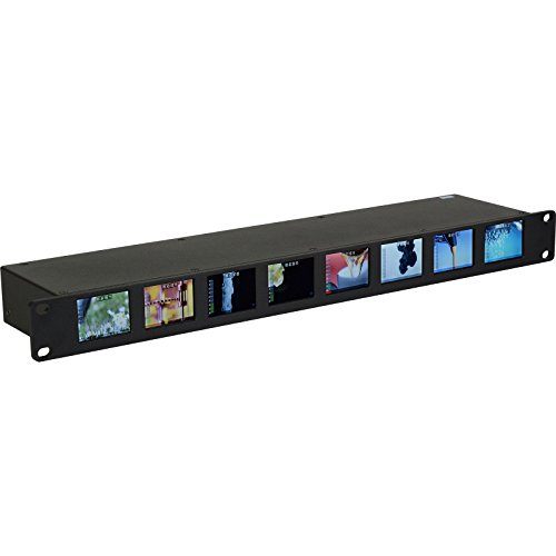 Delvcam DELV-8LCD-SDI OctoMon 3G-SDI 8-Panel LCD 1RU Rackmount Video Monitor ...