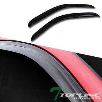 Topline Autopart Sun/Rain/Wind Guard Vent Shade Deflectors Window Visors 2Pc 95-04 Toyota Tacoma
