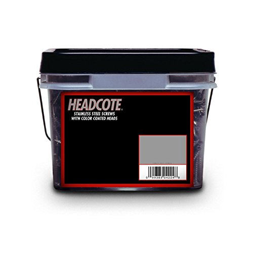 Headcote #8 x 2-1/2'' - #82 Mahogany - Stainless Steel Trim Head Deck Screws - 2500 pc. Bulk Pail - STX82V08250 by Headcote