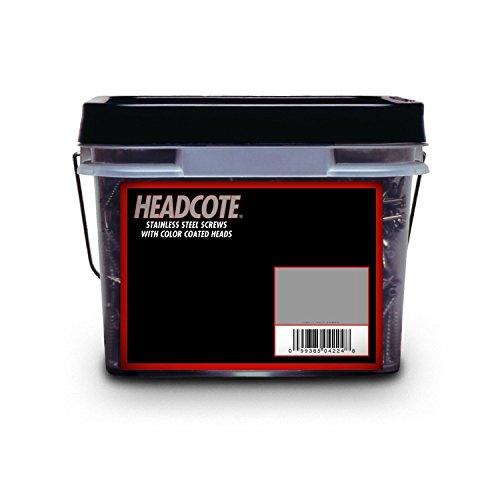 Headcote #8 x 2-1/2'' - #65 Rosy Brown - Stainless Steel Trim Head Deck Screws - 2500 pc. Bulk Pail - STX65V08250 by Headcote (Image #3)