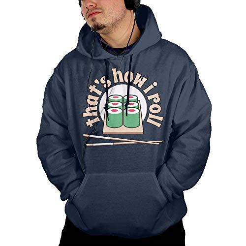 Skfdkkj Sushi That's How I Roll Men's Hoodies Sweatshirt with Pocket Hooded Sweatshirt ()
