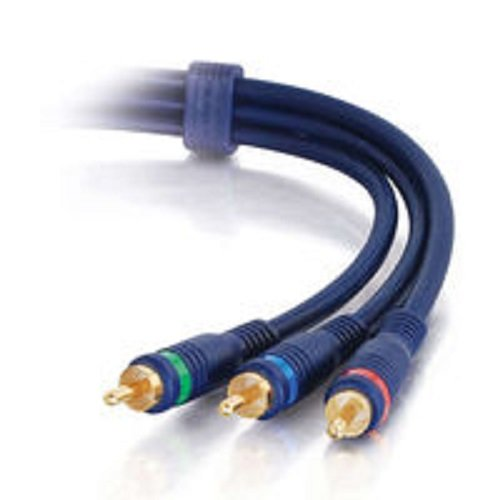 C2G/Cables to Go 40457 Velocity RCA Component Video Cable (35 Feet, Blue)