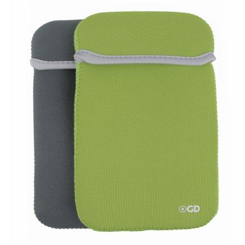 Gizmo Dorks Reversible Neoprene Sleeve Cover Case for Samsung Galaxy Tab 3 7.0, Green Gray (Hp 7 Inch Slate Case)