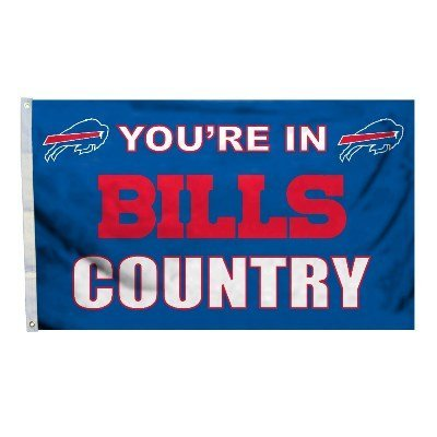 - NFL Buffalo Bills Country 3-by-5 Feet Flag with Grommets