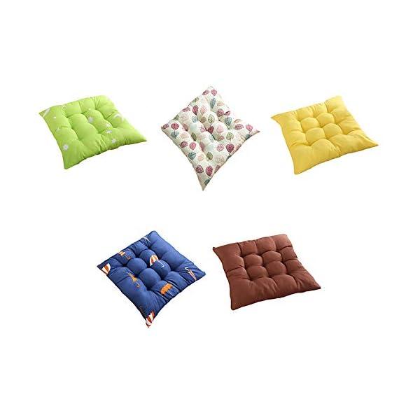 Oyfel. Set di 4 cuscini per sedia, 40 x 40 x 9 cm, per interni ed esterni, 100% cotone, diversi colori, imbottitura… 2 spesavip