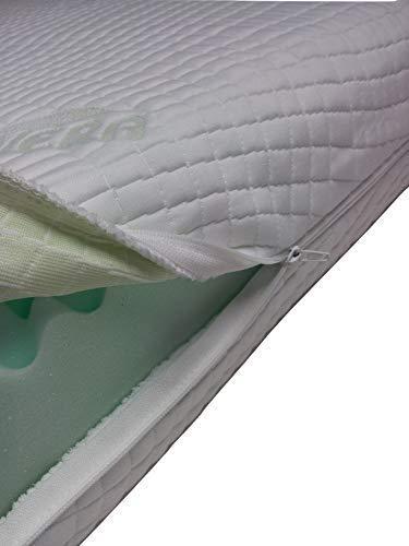 Coprimaterasso anallergico con cerniera su 4lati Aloevera Easy Clean, Coprimaterasso, per materasso 90X 200X ALTEZZA 5cm, letto,, Coprimaterasso, Aloe Vera Prezzi offerte