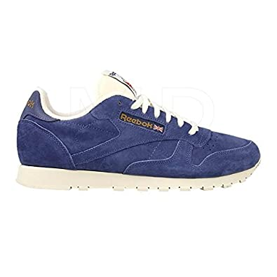 aca65f4f531 Reebok Classic Leather Clean UJ - Midnight Blue Chalk  Amazon.co.uk  Shoes    Bags