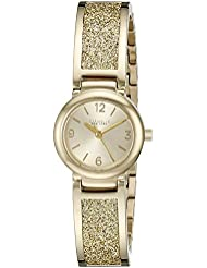 Caravelle New York Womens 44L164 Gold-Tone Stainless Steel Watch
