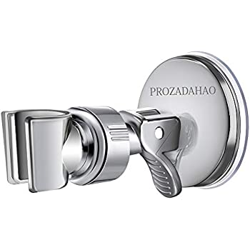 Shower Head Handset Holder ABS Bathroom Wall Mount Adjustable Suction Up Bracket