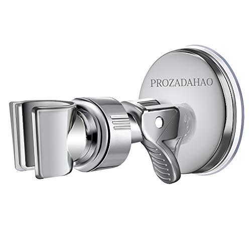 Adjustable Shower Head holder, Bathroom Suction Cup Handheld Shower head Bracket, Removable Handheld Showerhead & Wall Mounted Suction Bracket (Silver-1) (Shower Head Hook)