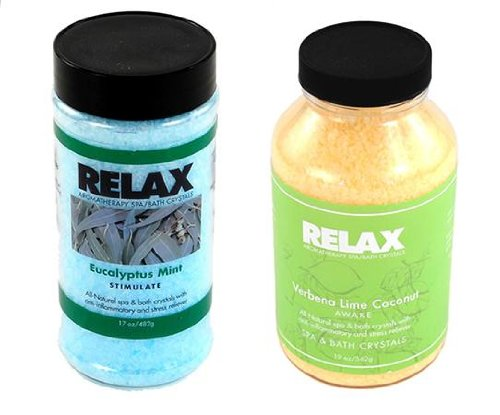 - Eucalyptus Mint & Verbena Lime Coconut Aroma Therapy Package Set - Epsom Bath Salts & Minerals for Spa Hottub Jacuzzi Whirlpool