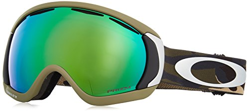 Oakley Canopy Snow Goggles, Army/Camo Frame, Prizm Jade Iridium Lens, - Oakleys Military For