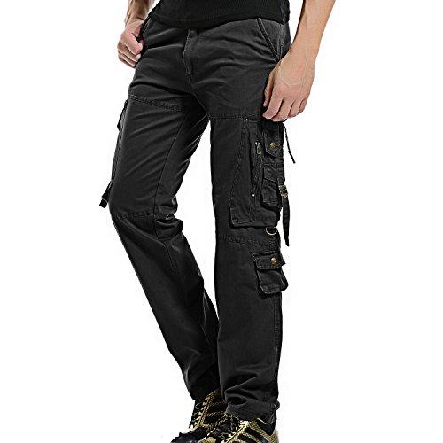 Black cargo pants men military - Trenters.com