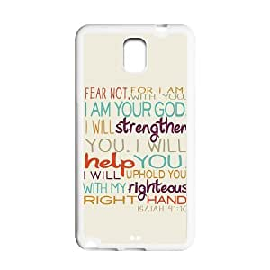 Generic Cell Phone Case for Samsung Galaxy Note 3 case Bible Verse Design Plastic phone Cases Protective Shell Personalized Pattern Skin
