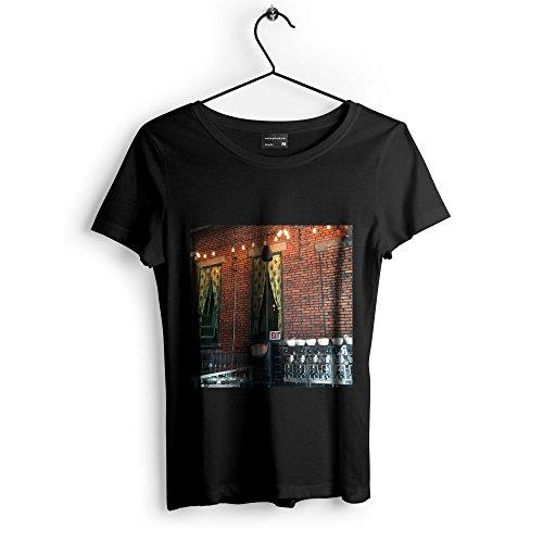 Westlake Art - Brick Building - Unisex Tshirt - Picture Photography Artwork Shirt - Black Adult Medium (2BD20)