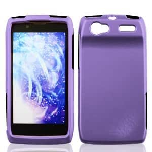 Boundle Accessory for Verizon Motorola XT881 - Purple Hard Cover Case + Lf Stylus Pen +Lf Screen Wiper