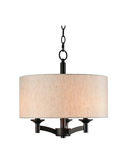 Kenroy Home Rutherford 3 Light Pendant, 16.25 Inch Height, 16 Inch Diameter, Oil Rubbed ()