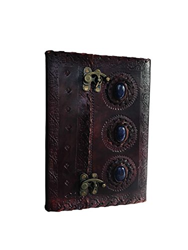 Leather Journal Book Medieval Stone Embossed Handmade Book of Shadows Notebook Office Diary College Book Poetry Book Sketch Book 10 x 7 - Handmade Blank