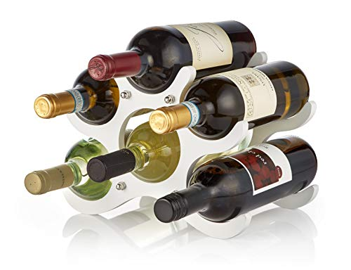 (AdirHome Wooden Wine Rack - 6 Bottle (White))