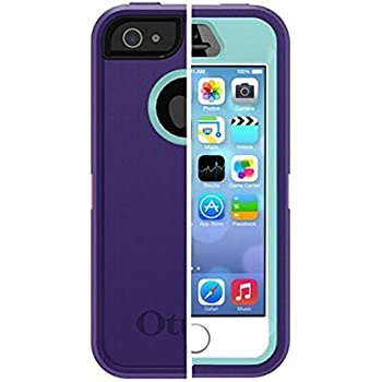 Otterbox Iphone 5/5S/SE Defender Case with Belt Clip/Holster - Purple/Light Blue