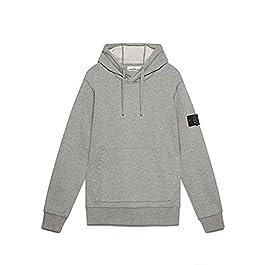 Stone Island Cotton Zip Up Grey Hoodie