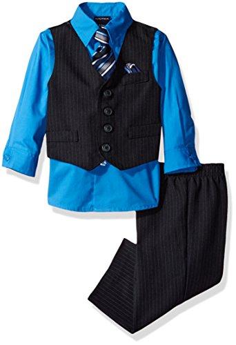 Nautica Striped Tie (Nautica Dressy Vest Set, Navy Stripe, 12 Months)