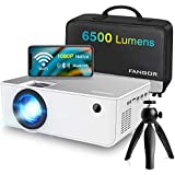 1080P HD Projector  WiFi Projector Bluetooth Projector  FANGOR 6500 Lumen 230 inch Portable Movie Projector  Compatible with TV Stick  HDMI  VGA  USB  Laptop  iOS Android for PowerPoint Presentation
