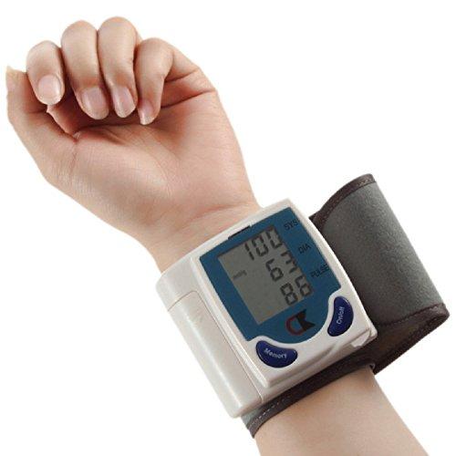 1x Digital Lcd Wrist Cuff Arm Blood Pressure Monitor Heart Beat Meter Lcd Display Machine