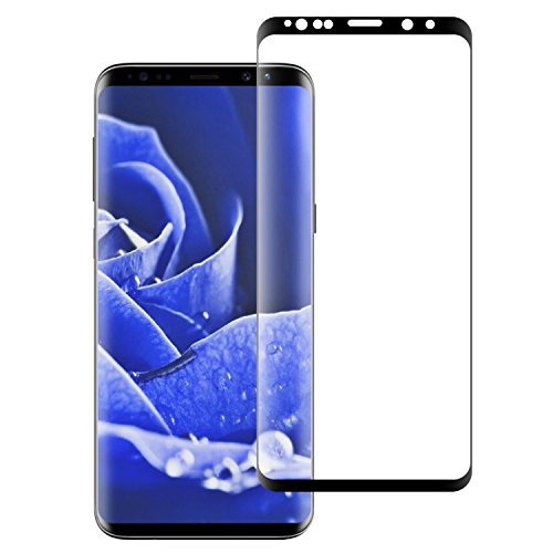 Galaxy S9 Screen Protector, 3D Tempered Glass Full Coverage High Definition Clear Anti-Scratch Anti-Bubble Screen Protector for Samsung Galaxy S9-Black