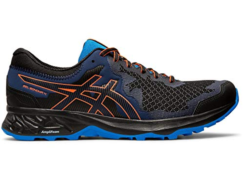 ASICS Men's Gel-Sonoma 4 Trail Running Shoes, 11M, Black/Flash Coral (Asics Running Shoes Gel Flash)