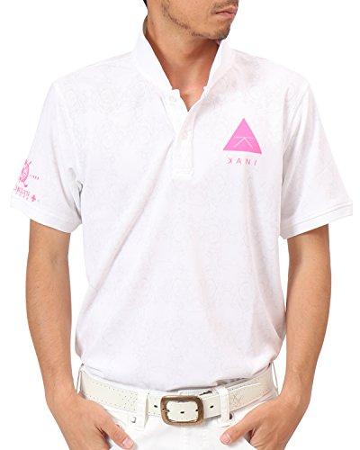 [カールカナイ ゴルフ] Karl Kani GOLF ポロシャツ ドライ蛍光ポロ 182KG1206 ホワイト Sサイズ
