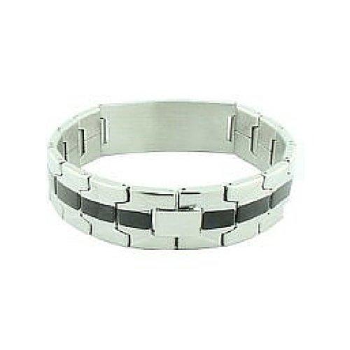 Inspire Nation Mens Religious Prayer ID Bracelet Stainless Steel