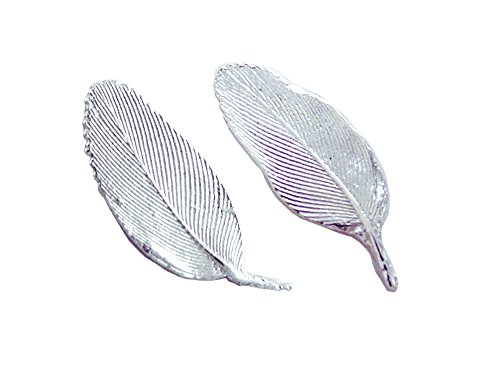 Tiny Feathers Stud Earrings, American Made Sterling Silver