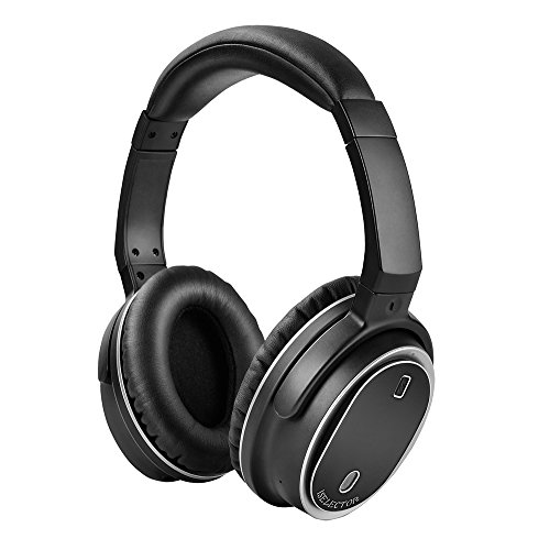 iselector bnc80 wireless bluetooth over ear headphones with active noise cancelling for travel. Black Bedroom Furniture Sets. Home Design Ideas