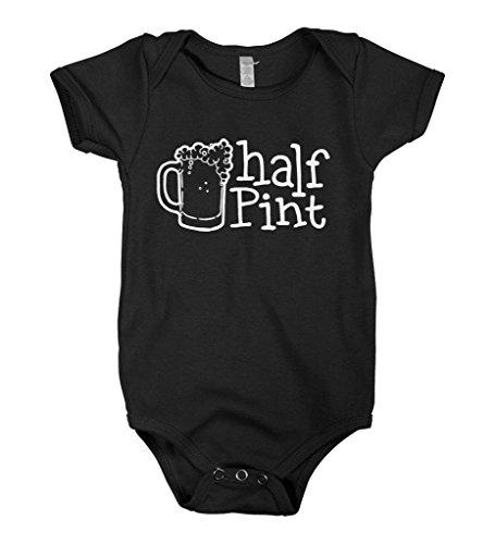 Mixtbrand Baby Boys' Half Pint Infant Bodysuit NB Black
