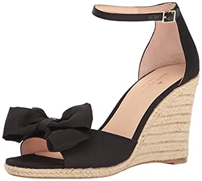 kate spade new york Women's Broome Espadrille Wedge Sandal, Black, 5 M US