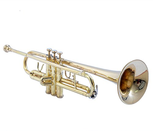 BEST TRUMPET Bb PITCH FOR SALE BRASS BIG BELL WITH FREE CASE AND MP